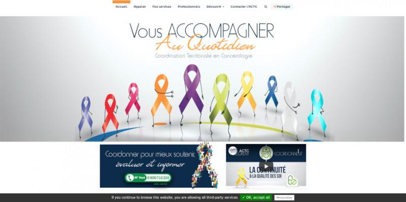 Site Internet - ACTC (ASSO COORDINATION TERRITORIALE CANCEROLOGIE)
