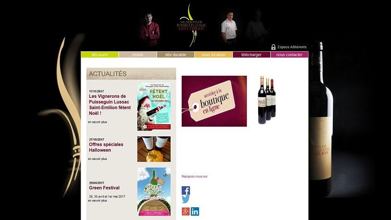 Site Internet - Puisseguin - Lussac