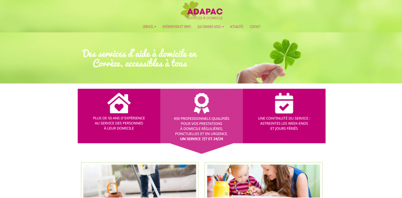 Site Internet - Adapac