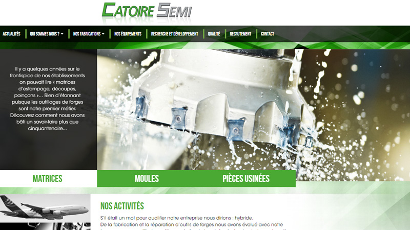 Site Internet - Catoire Semi