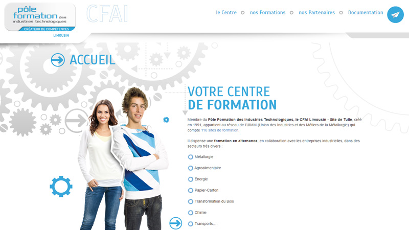 Site Internet - CFAI Limousin