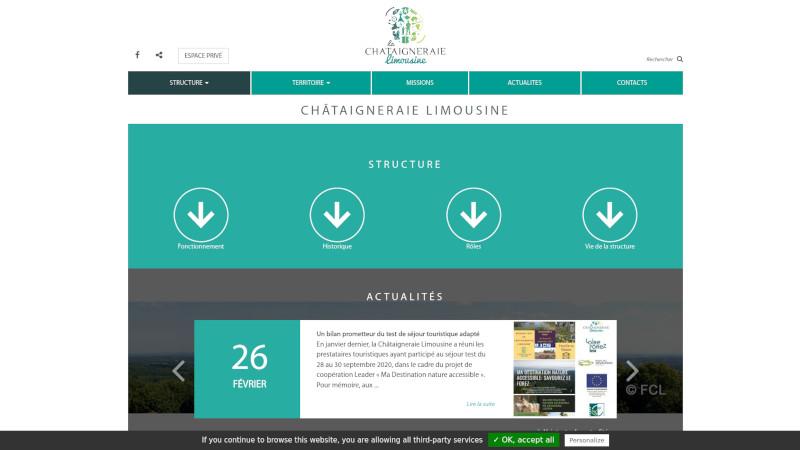 Site Internet - Châtaigneraie Limousine