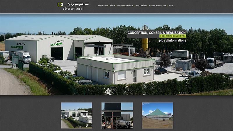 Site Internet - Claverie développement