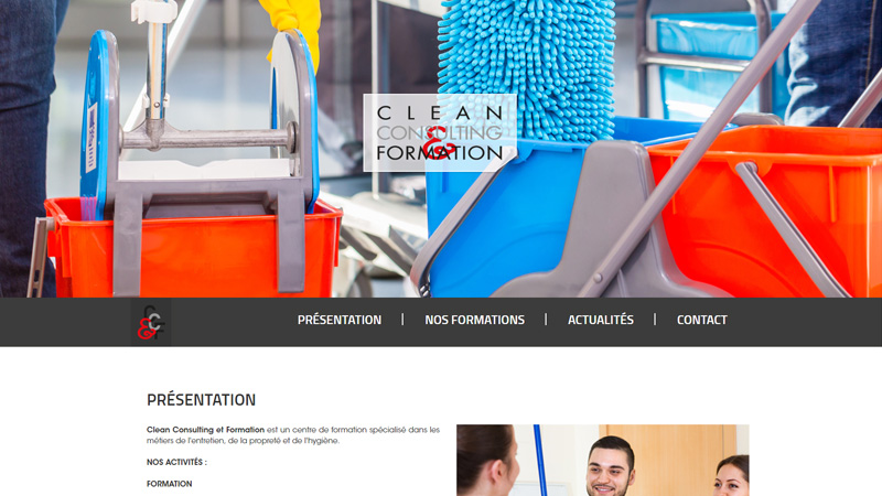 Site Internet - Clean consulting et formation