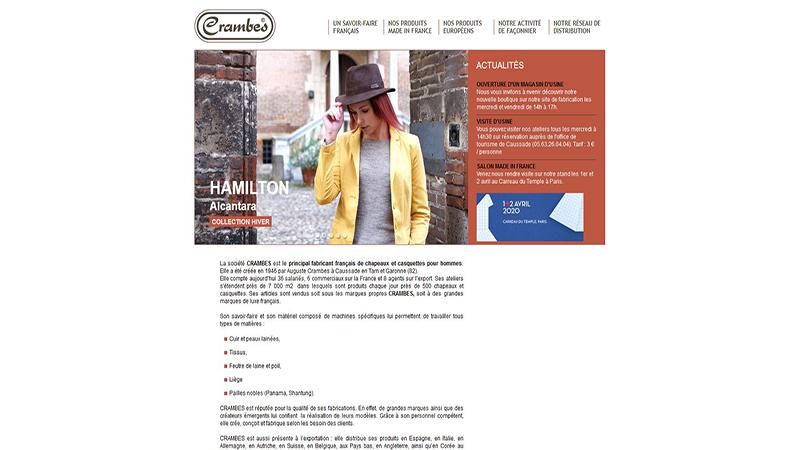 Site Internet - Crambes Hats