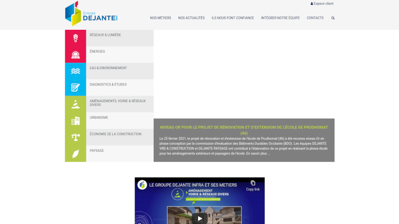 Site Internet - Dejante