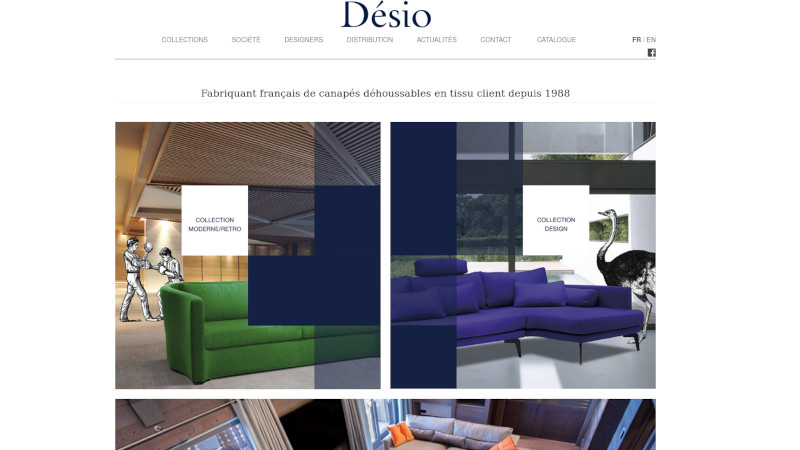 Site Internet - Desio (Canape design)