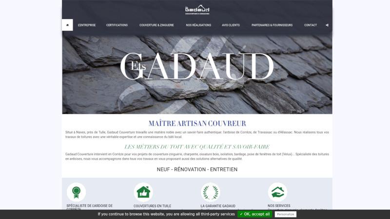 Site Internet - ENTREPRISE GADAUD