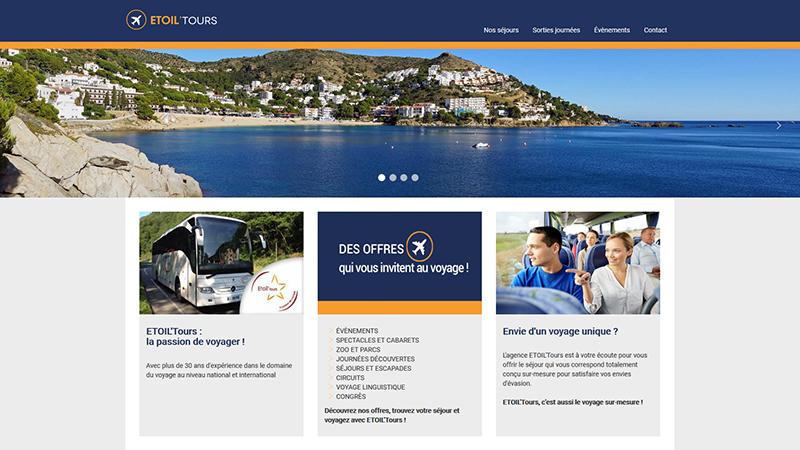 Site Internet - Etoil'tours