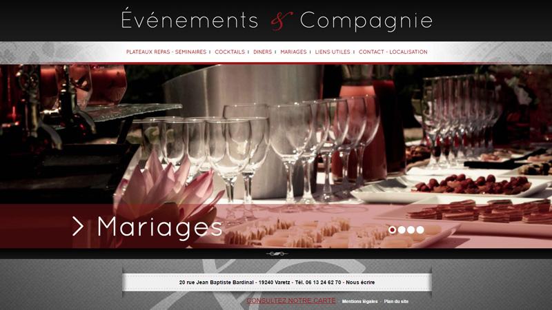 Site Internet - Évènements & Compagnie