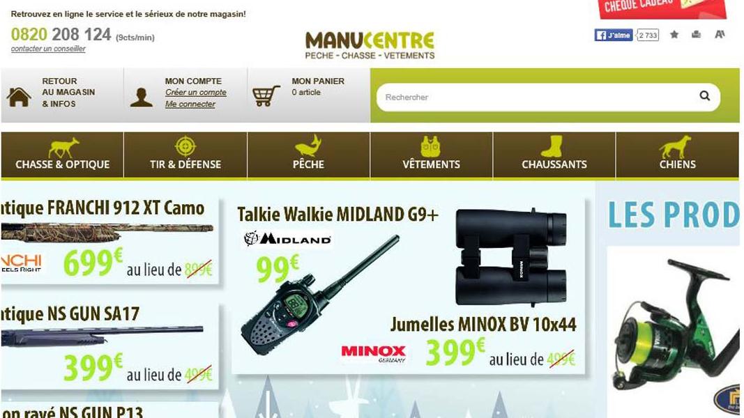 Site Internet - Shop Manucentre