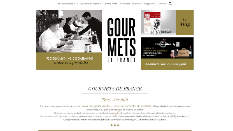 Site Internet - Gourmets de France
