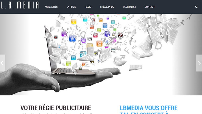 Site Internet - LB MEDIA