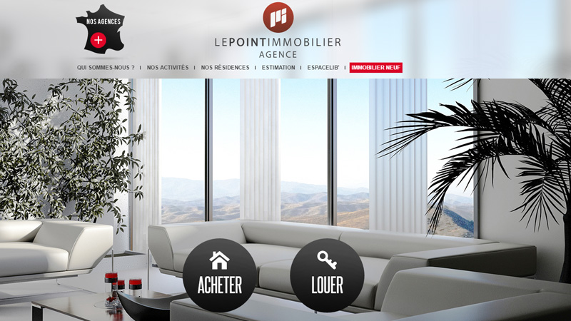 Site Internet - Le point immobilier agence