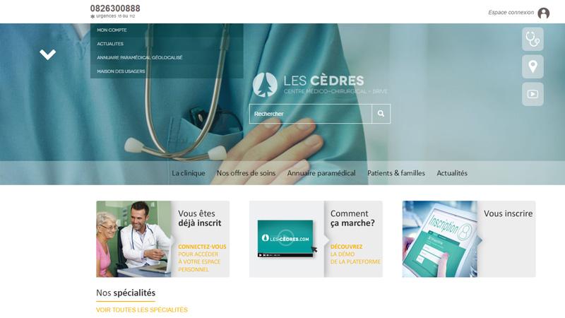 Site Internet - Les cèdres