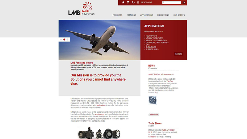 Site Internet - LMB Aerospace