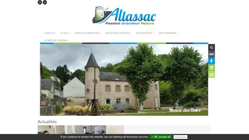 Site Internet - Mairie Allassac
