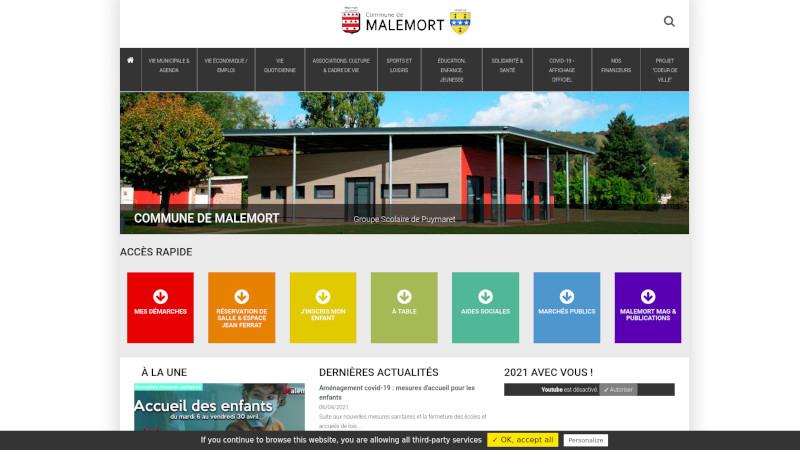 Site Internet - Mairie de Malemort