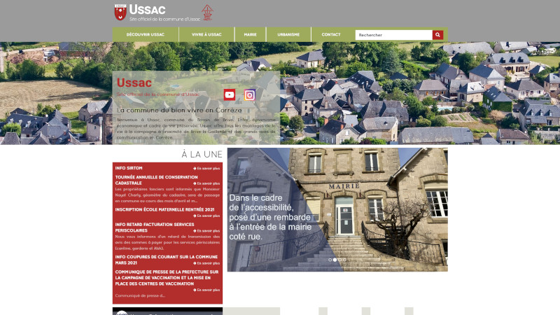 Site Internet - Mairie Ussac