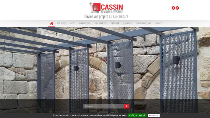 Site Internet - Menuiserie CASSIN