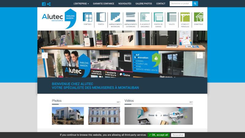 Site Internet - MENUISERIE ALUTEC
