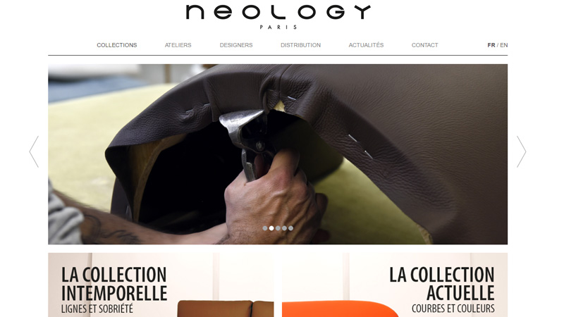 Site Internet - Neology (Canape design)