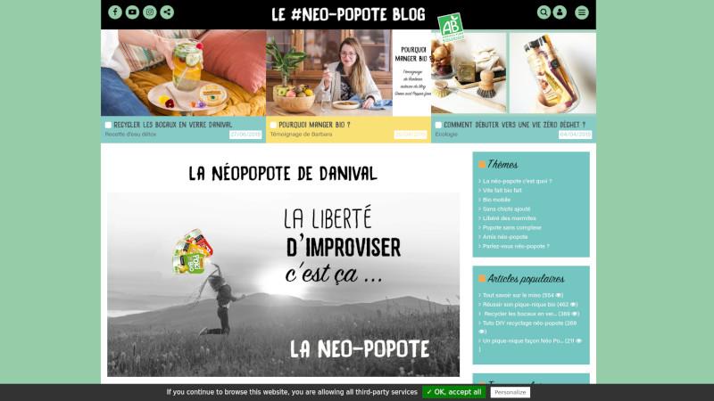 Site Internet - Danival - neopopote