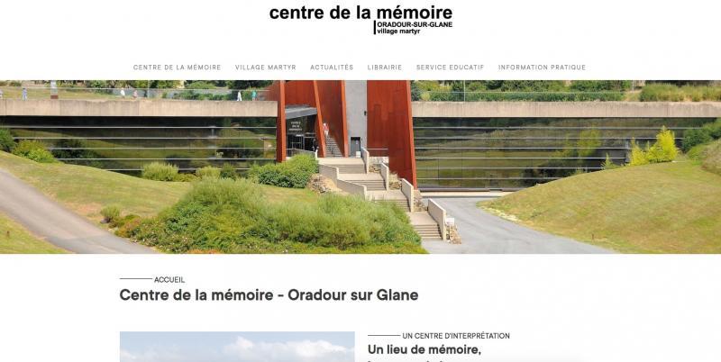 Site Internet - Centre de la mémoire d'Oradour