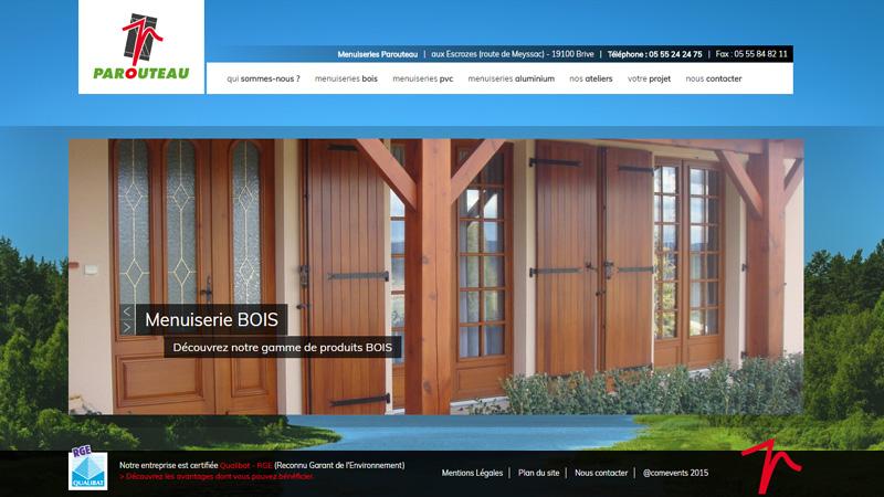Site Internet - Parouteau Menuiseries