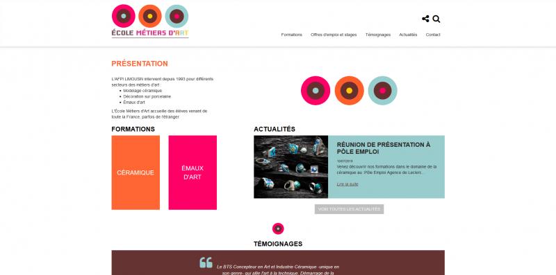 Site Internet - École des métiers d'art