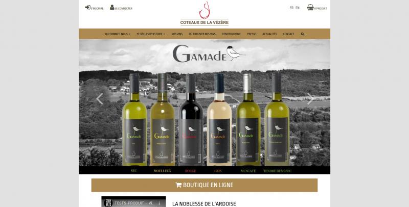 Site Internet - Coteaux vézère