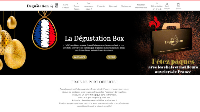 Site Internet - La dégustation box - Ecommerce Gourmets
