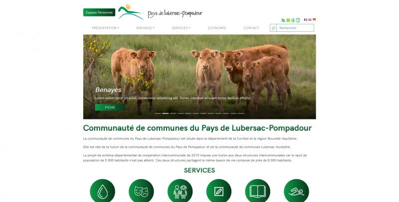 Site Internet -  Communauté de Communes Lubersac Pompadour