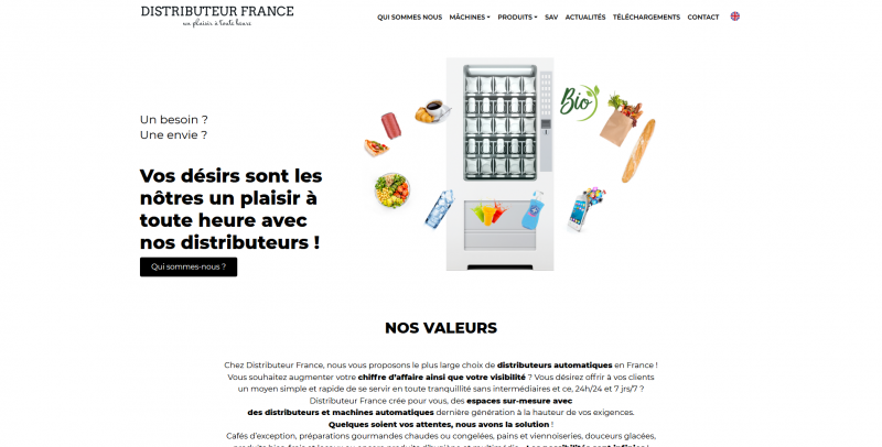 Site Internet - Distributeur France