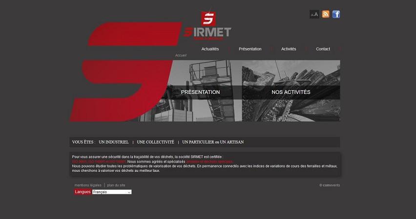 Site Internet - SIRMET