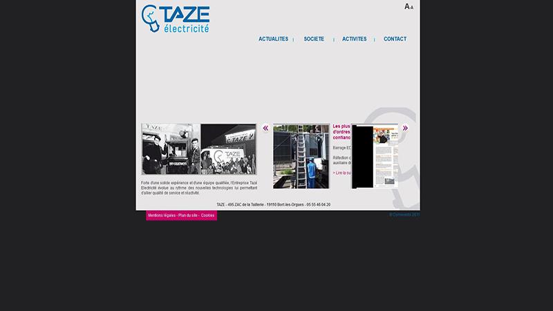 Site Internet - Taze électricité