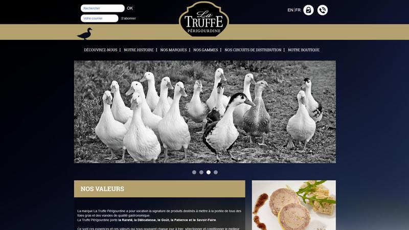 Site Internet - La truffe périgourdine