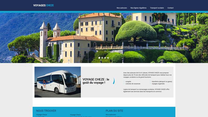Site Internet - Voyages Chèze