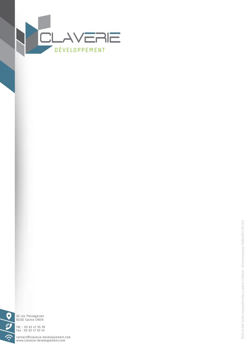 Réalisation Comevents - Claverie Développement - Entête de lettre