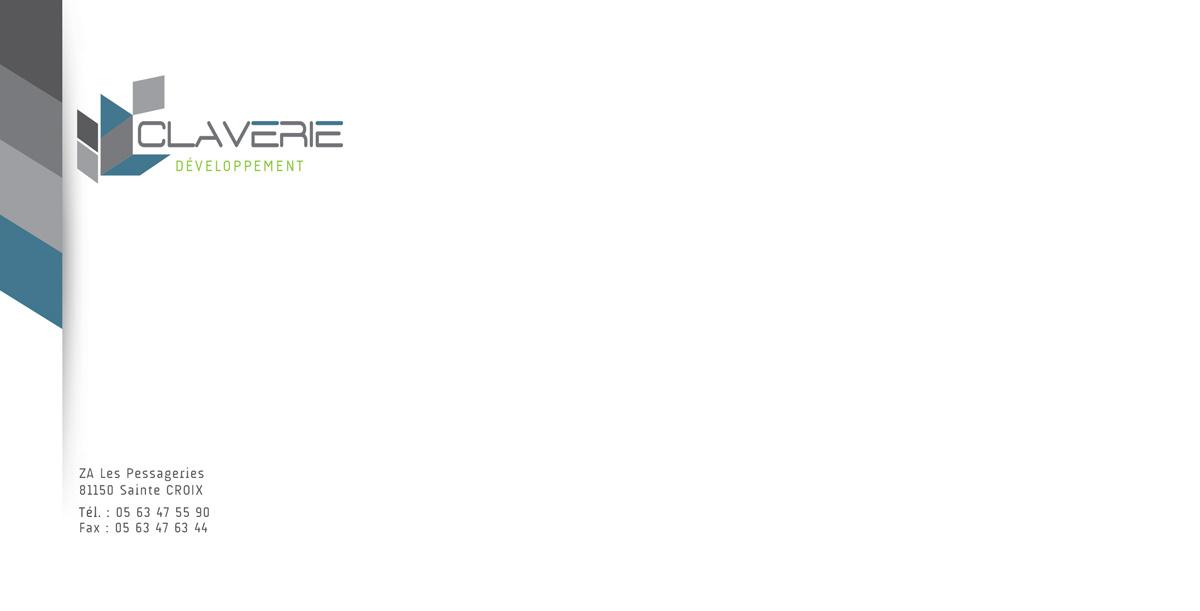Réalisation Comevents - Claverie Développement - Enveloppe 11x22