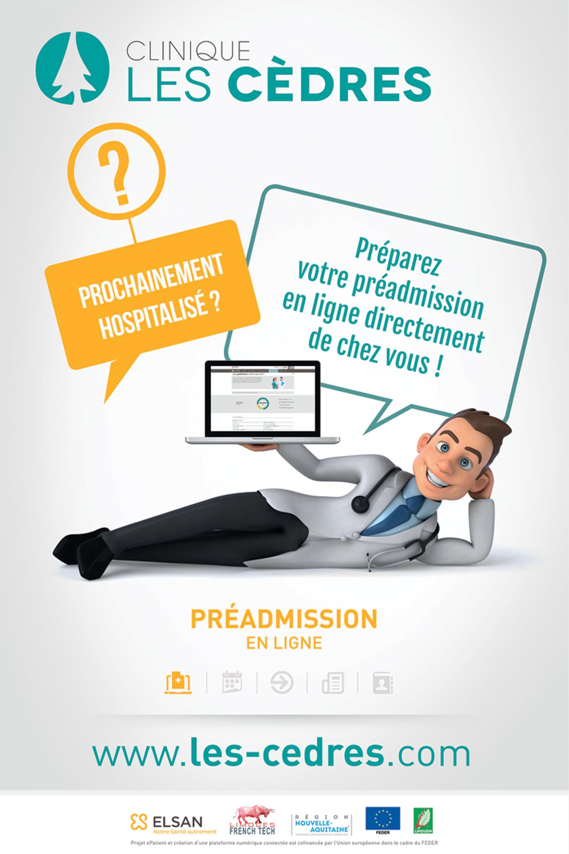 Réalisation Comevents - Clinique Les Cèdres - Affiche 40x60