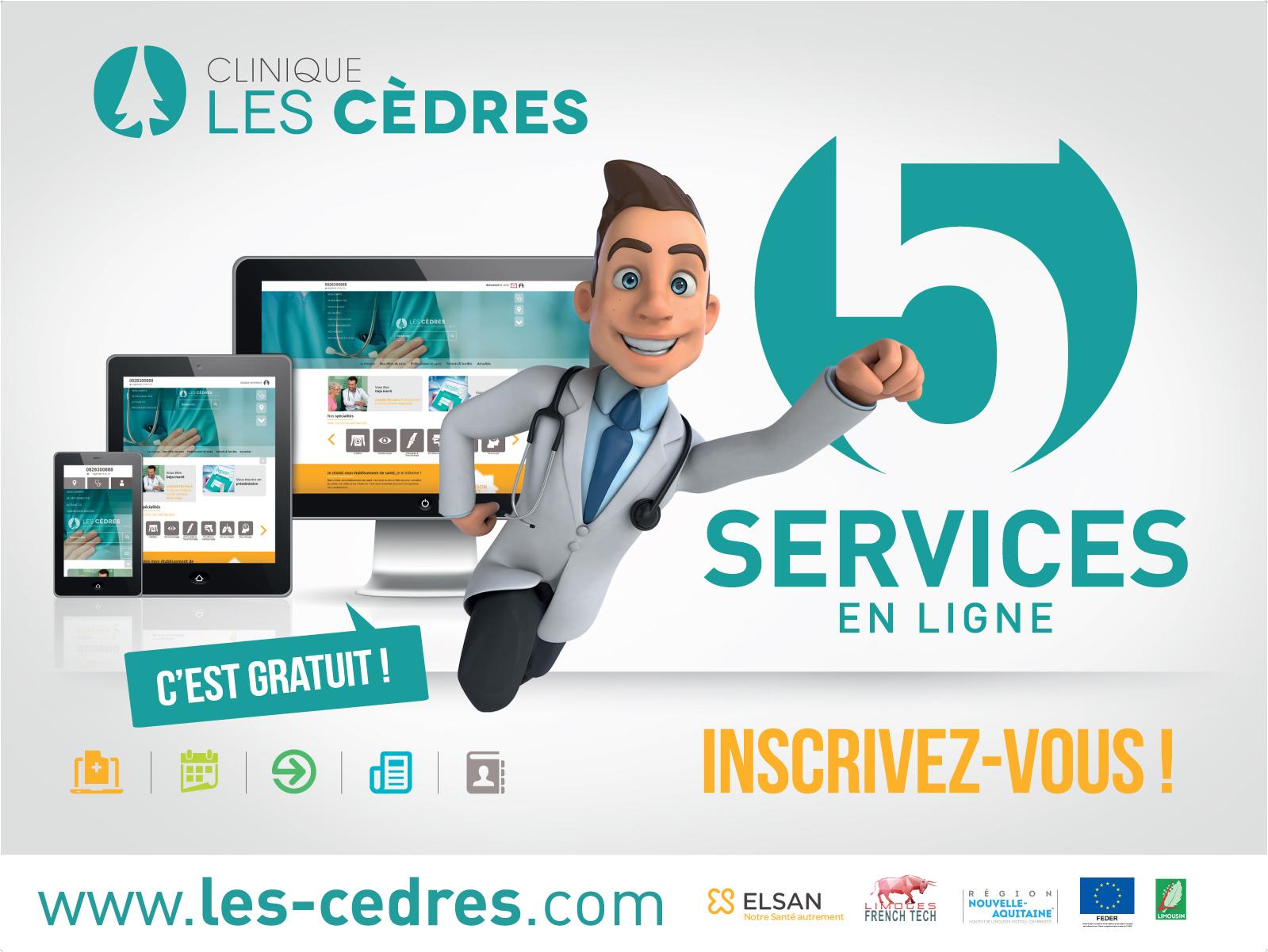Réalisation Comevents - Clinique Les Cèdres - Affiche 4x3