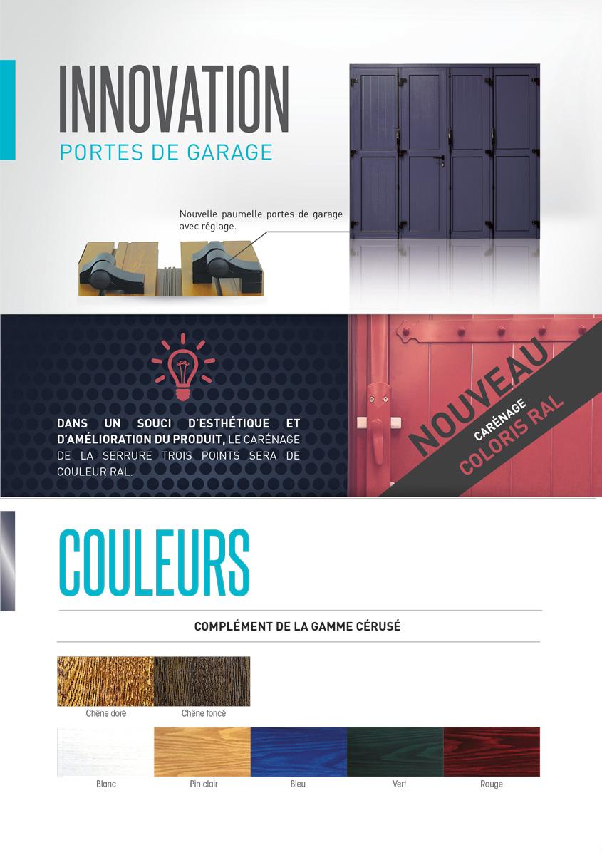 Réalisation Comevents - Corrèze Fermetures - Plaquette Nouveautés 2018 - Page intérieure