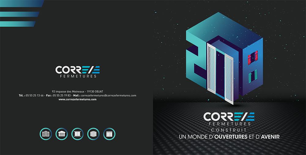 Réalisation Comevents - Corrèze Fermetures - Voeux 2018 recto
