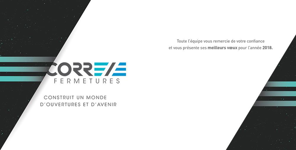 Réalisation Comevents - Corrèze Fermetures - Voeux 2018 verso