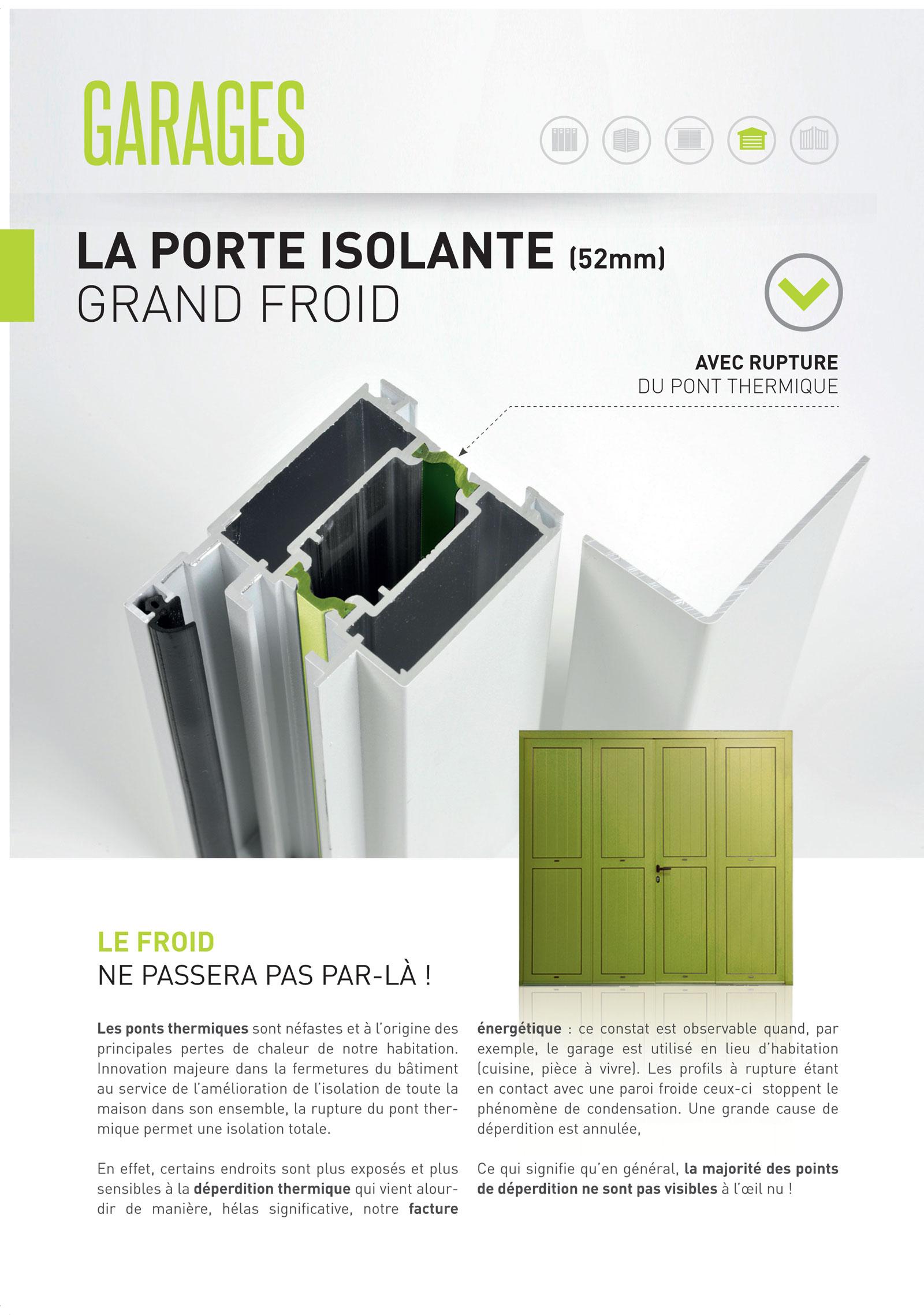 Réalisation Comevents - Corrèze Fermetures - Plaquette Portes de garage - Page intérieure