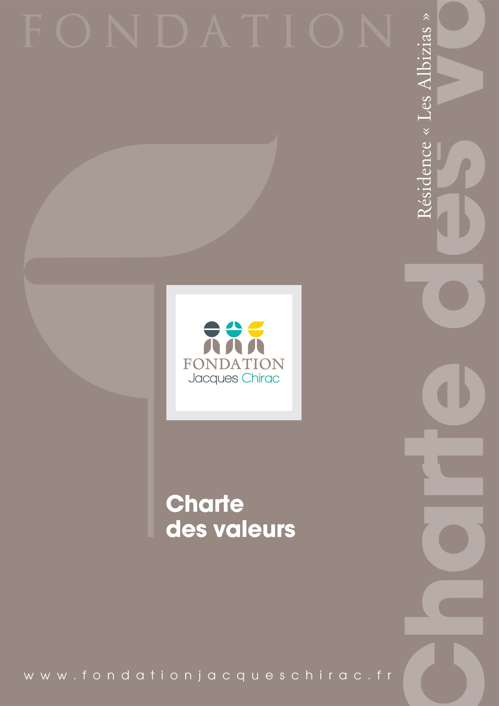 Réalisation Comevents - Fondation Jacques Chirac - Charte des valeurs