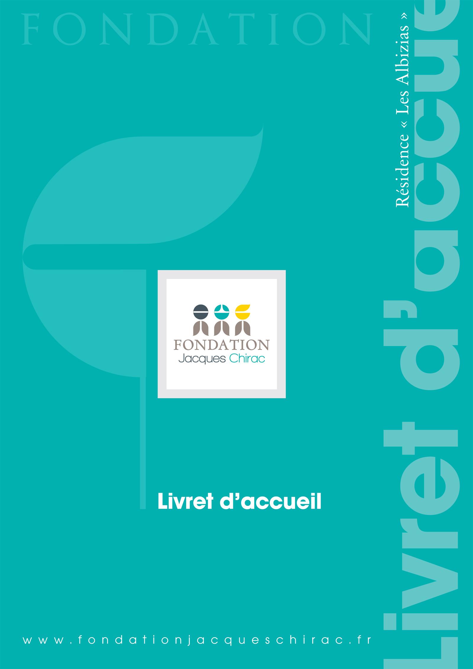 Réalisation Comevents - Fondation Jacques Chirac - Livret d'accueil