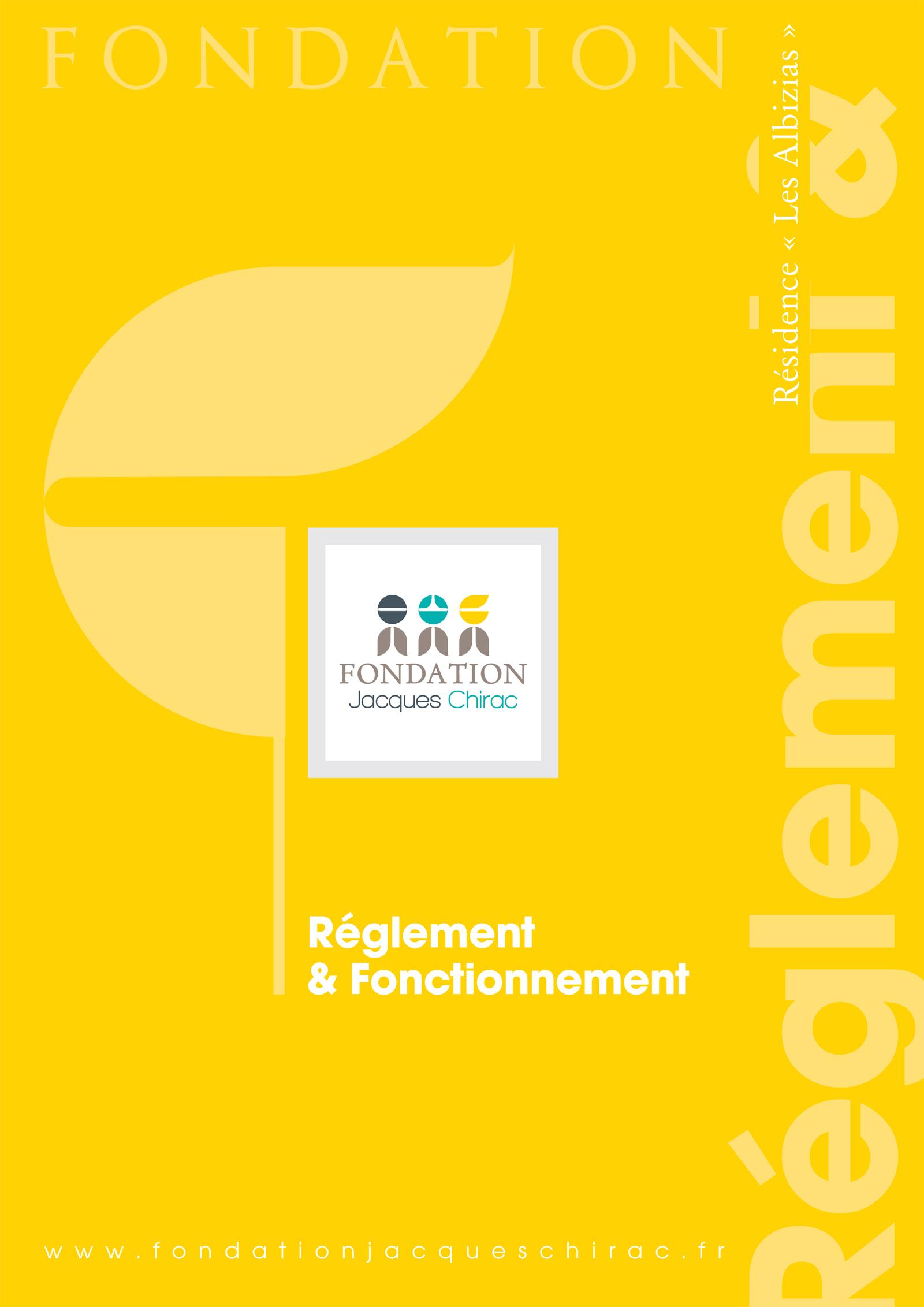 Réalisation Comevents - Fondation Jacques Chirac - Règlement & fonctionnement
