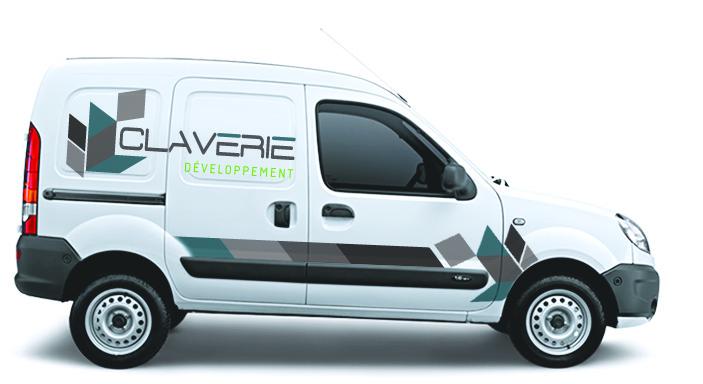 Réalisation Comevents - Claverie Développement - Marquage véhicule Kangoo